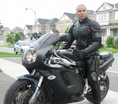 The Dark Knight Motorcycle Suit