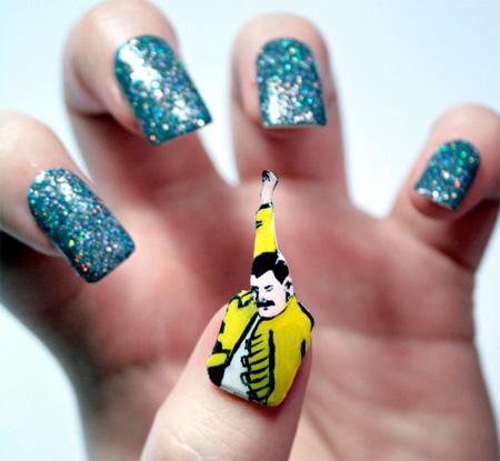 Freddie Mercury Nails