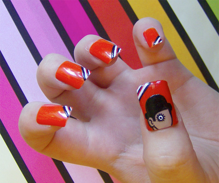 Clockwork Orange Nails