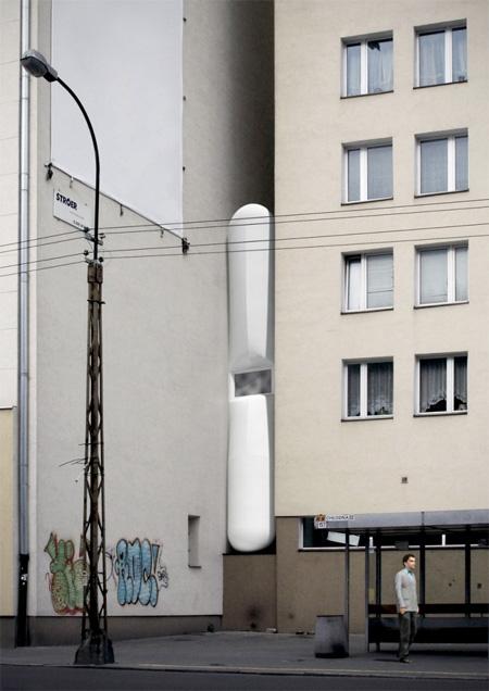 narrowhouse07 - طراحی خانه ای باریک بین دو ساختمان!