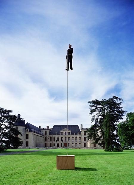 Levitating Philippe Ramette