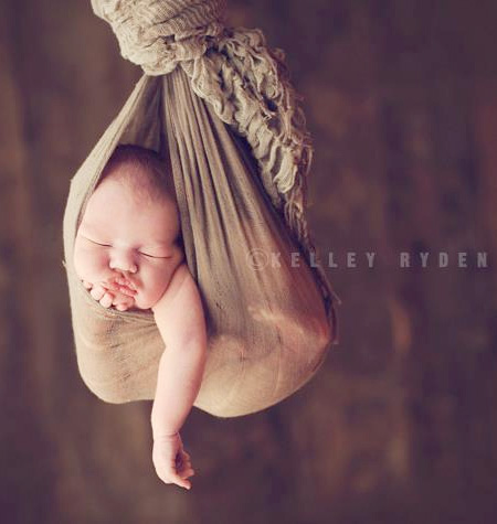 Sleeping Newborn by Kelley Ryden