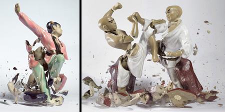 Shattering Porcelain Figurines