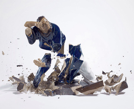 Dropped Porcelain Figurines