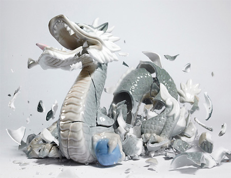 Shattered Porcelain Figurine