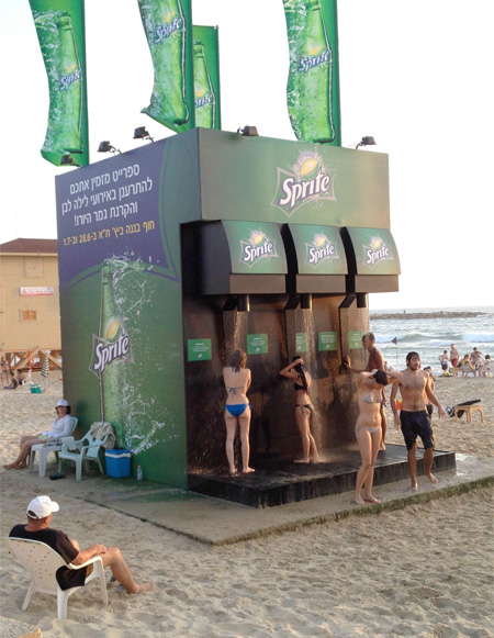 Sprite Shower in Israel