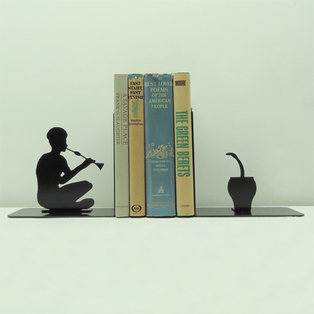 Snake Charmer Bookends