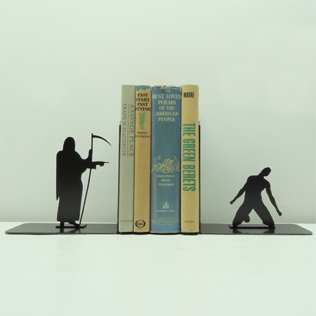 Grim Reaper Bookends