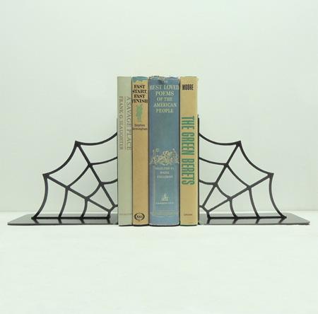 Spiderweb Bookends