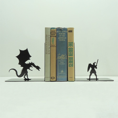 Dragon and Knight Bookends