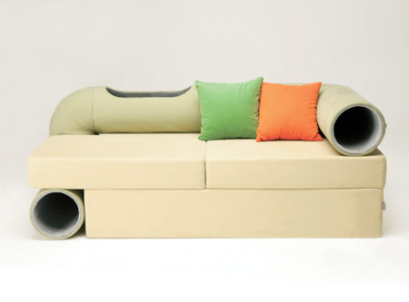 Cat Tunnel Couch by Seungji Mun