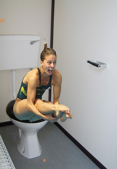 Diver on the Toilet