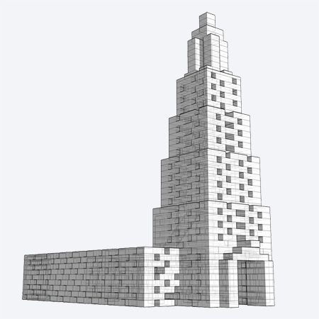 Structure Made of LEGO