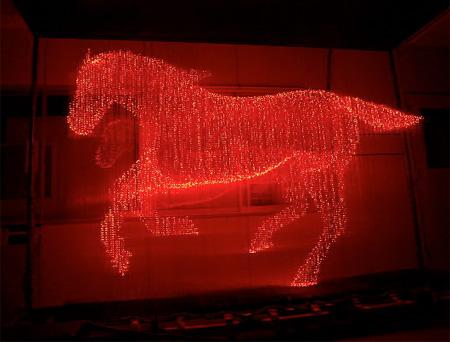LED Sculpture by Makoto Tojiki