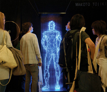 Light Sculpture by Makoto Tojiki