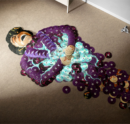 Music Artists Made of CDs