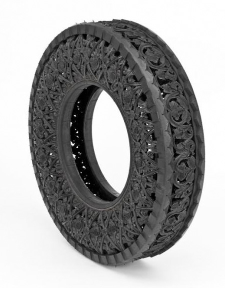 Tire Art by Wim Delvoye