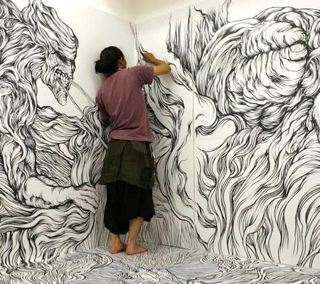 Drawings by Yosuke Goda