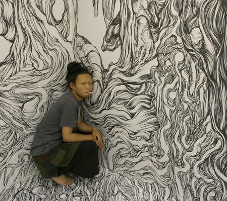 Wall Drawing by Yosuke Goda