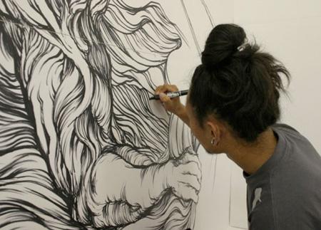 Wall Drawings by Yosuke Goda