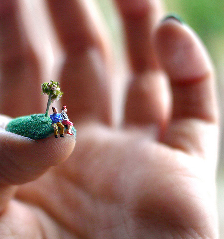 Miniature World Nail Art