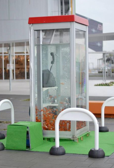 Kingyobu Phone Booth Aquarium