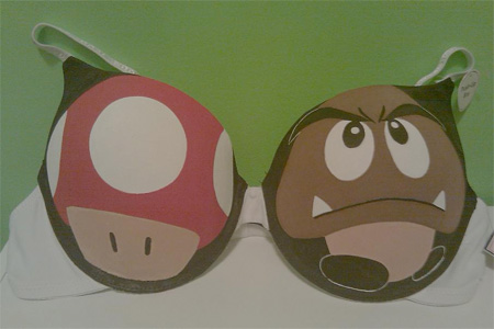 Mushroom and Goomba Bra