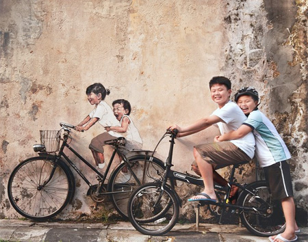 Interactive Street Art by Ernest Zacharevic