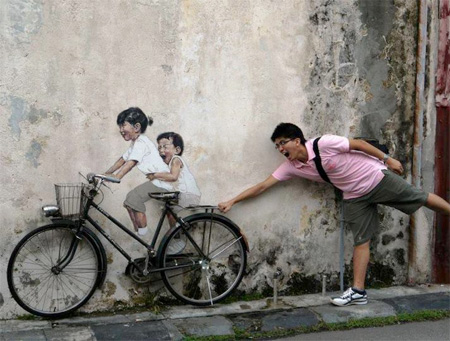 Unique Street Art by Ernest Zacharevic