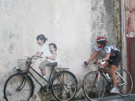 Modern Street Art by Ernest Zacharevic