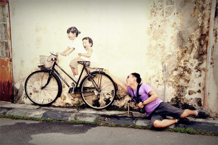 Awesome Street Art by Ernest Zacharevic