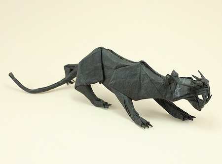 Origami Black Panther