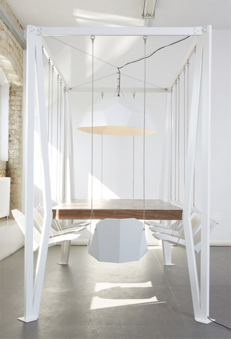 Table with Swing Chairs