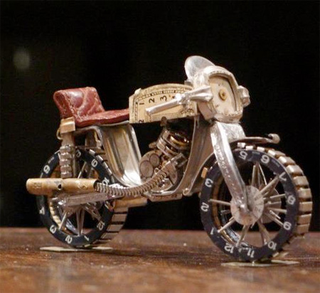 Miniature Motorcycles by Dan Tanenbaum