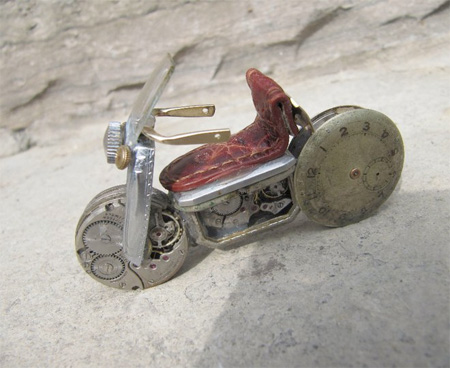 Miniature Motorcycle by Dan Tanenbaum