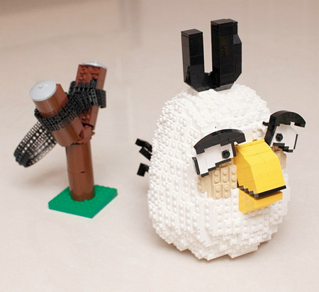 Angry Birds Created from LEGO
