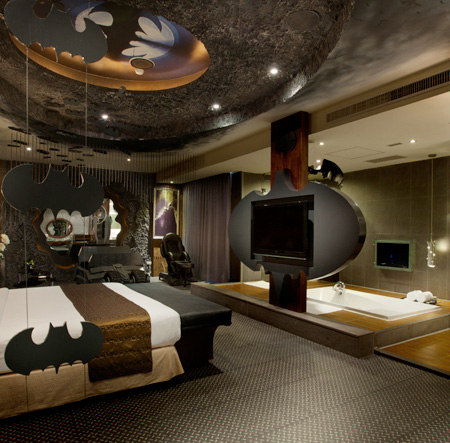 Batman Cave Hotel Room in Taiwan