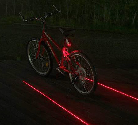 Laser Bicycle Lane