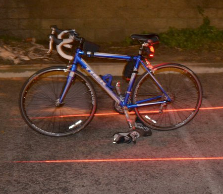 Laser Projected Bike Lane
