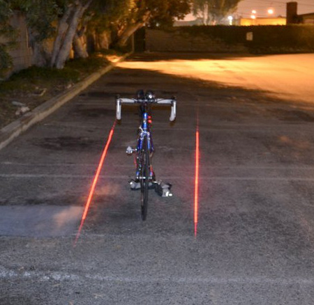 Laser Projected Bicycle Lane