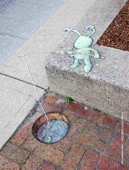 Chalk Drawings by David Zinn
