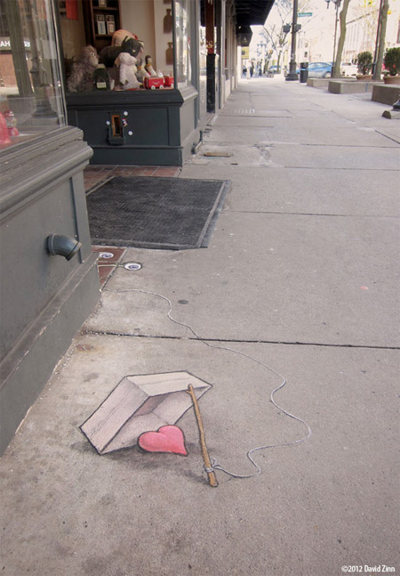Sidewalk Chalk Art by David Zinn