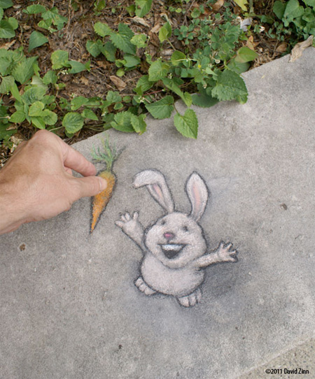 Sidewalk Drawing by David Zinn