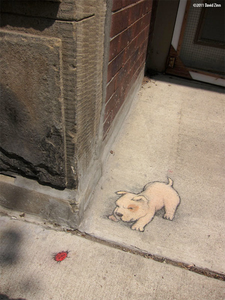 Sidewalk Art by David Zinn