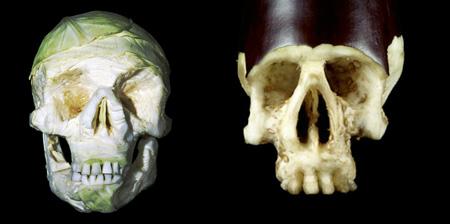 Fruit and Vegetable Skulls