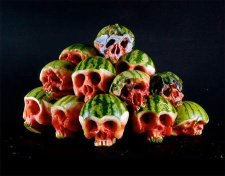 Food Skulls by Dimitri Tsykalov