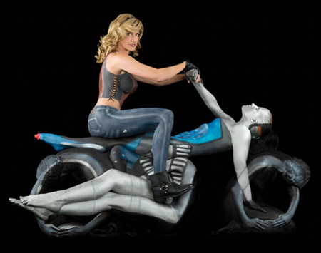 Motorcycle Body Art