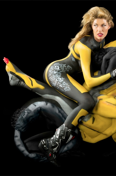 Motorcycle Made of People