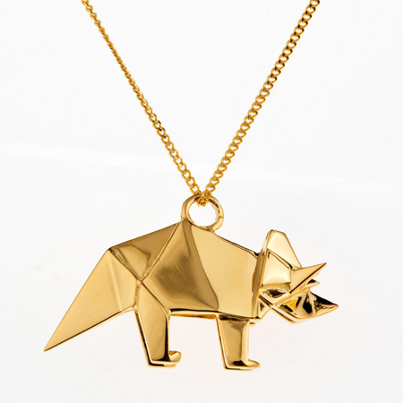 Gold Origami Jewelry