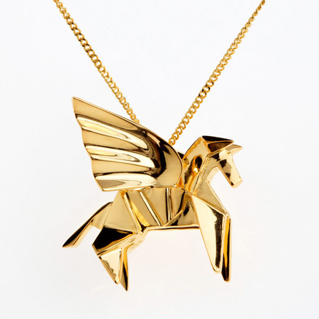 Gold Origami Jewellery